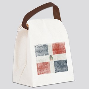 Dominican Republic Distressed Fla Canvas Lunch Bag