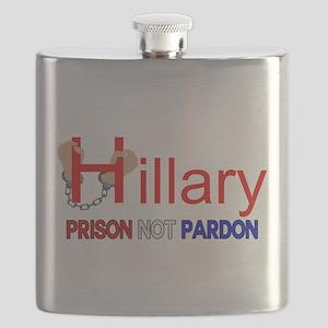 Hillary Prison NOT Pardon Flask