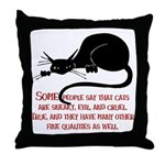 Sneaky Cats Throw Pillow