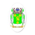 Rainaldis Oval Car Magnet