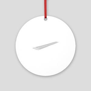 Airport Runway Round Ornament