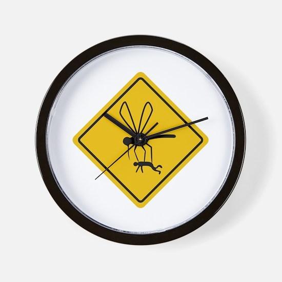 Mosquito hazard Wall Clock