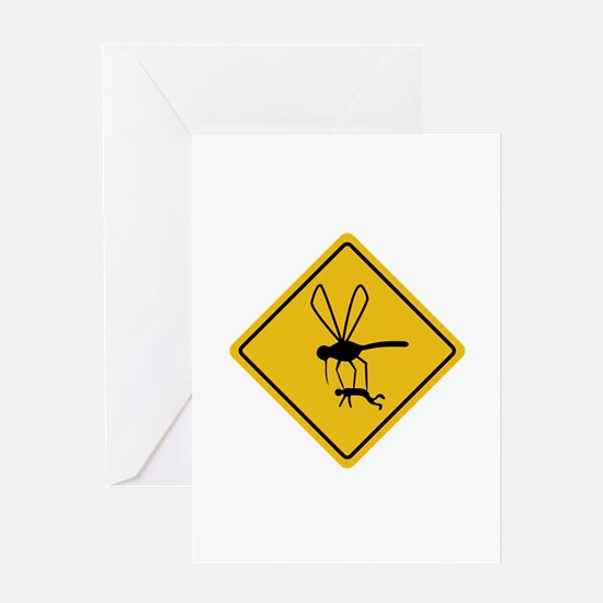 Mosquito hazard Greeting Cards