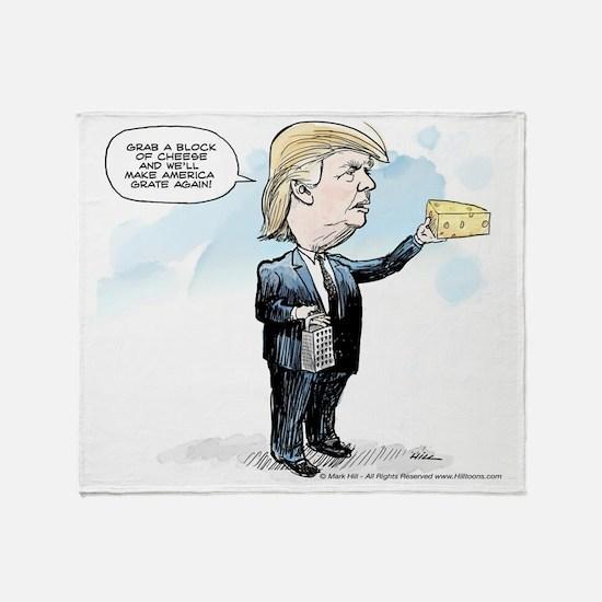 Funny Political humor Throw Blanket