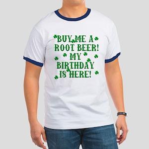 Root Beer Birthday Kiss Me Ringer T