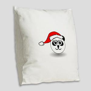 Funny panda face black and whi Burlap Throw Pillow