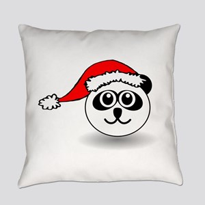 Funny panda face black and white w Everyday Pillow