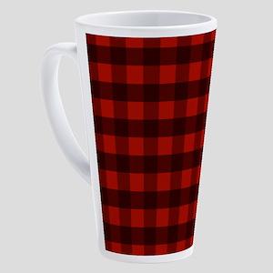 Red Buffalo Plaid 17 oz Latte Mug