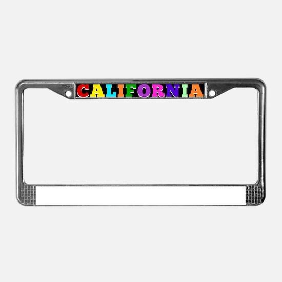 Unique California city License Plate Frame