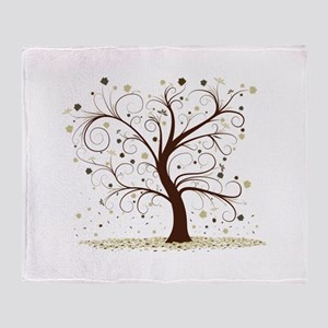 Curly Tree Design Throw Blanket