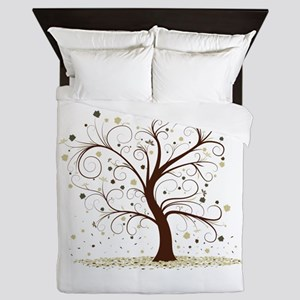 Curly Tree Design Queen Duvet