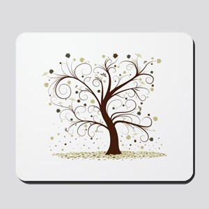 Curly Tree Design Mousepad