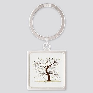 Curly Tree Design Keychains