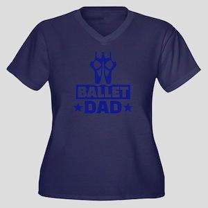 Ballet dad Women's Plus Size V-Neck Dark T-Shirt