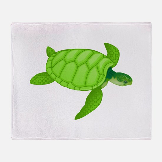 Green sea turtle Throw Blanket