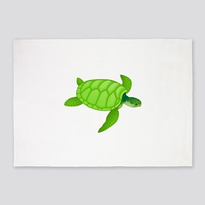 Green sea turtle 5'x7'Area Rug