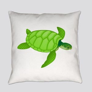 Green sea turtle Everyday Pillow