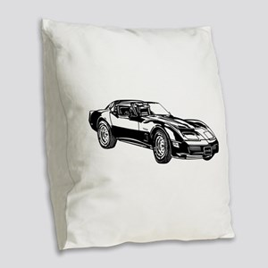 Dodge Viper Burlap Throw Pillow