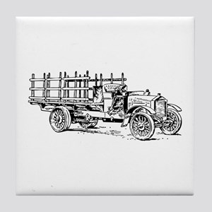 Old heavy truck Tile Coaster