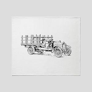 Old heavy truck Throw Blanket