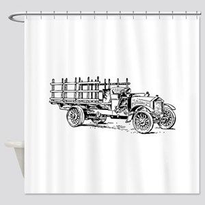 Old heavy truck Shower Curtain