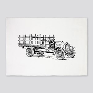 Old heavy truck 5'x7'Area Rug