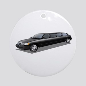Limousine car Round Ornament
