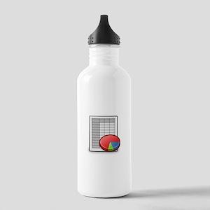 Office spreadsheet Stainless Water Bottle 1.0L
