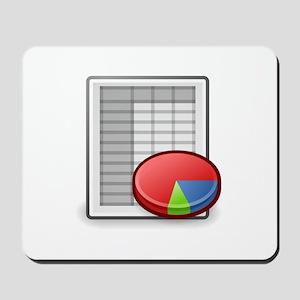 Office spreadsheet Mousepad