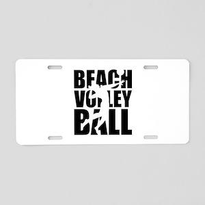 Beachvolleyball Aluminum License Plate