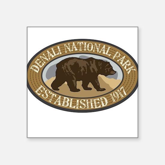 "Cute Denali national park and preserve Square Sticker 3"" x 3"""
