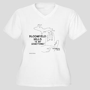 Bloomfield Hills Women's Plus Size V-Neck T-Shirt