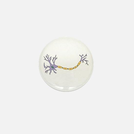 Neuron with axon Mini Button