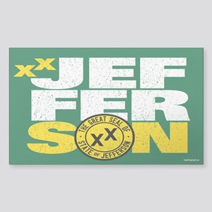 State of Jefferson - Cal. styl Sticker (Rectangle)