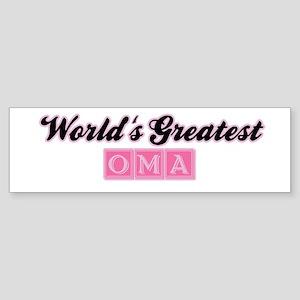 World's Greatest Oma (2) Bumper Sticker