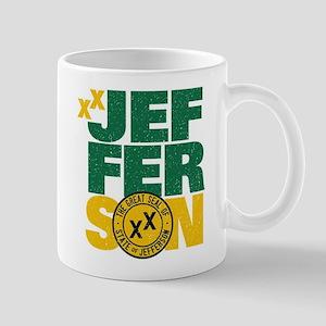 State of Jefferson - Cal. style w/ Gold Mug