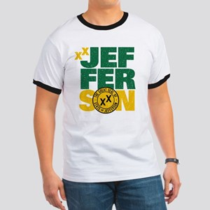State of Jefferson - Cal. style w/ Gold P Ringer T