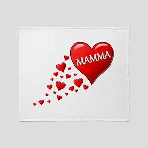 Mamma heart Throw Blanket