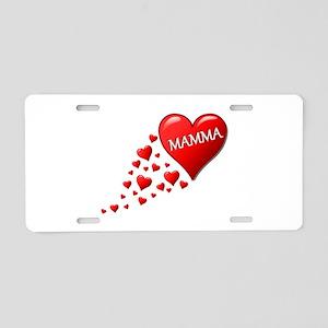 Mamma heart Aluminum License Plate
