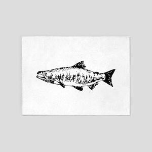 Salmon 5'x7'Area Rug
