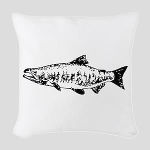 Salmon Woven Throw Pillow