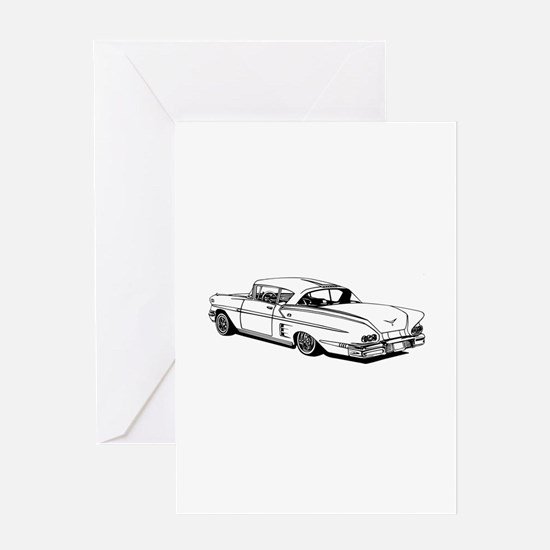 Shelby Mustang Cobra car Greeting Cards