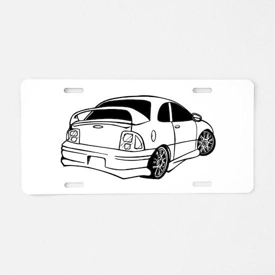 Delorean DMC 12 Aluminum License Plate