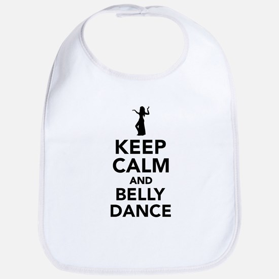 Keep calm and belly dance Bib
