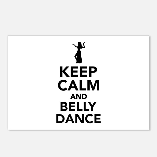Keep calm and belly dance Postcards (Package of 8)
