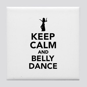 Keep calm and belly dance Tile Coaster