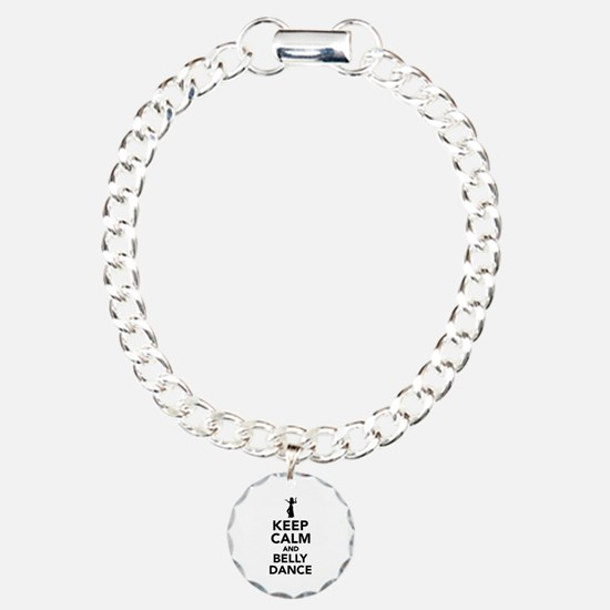 Keep calm and belly danc Bracelet