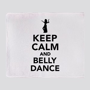 Keep calm and belly dance Throw Blanket