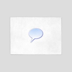 Demikl D Rounded Speech Bubble 5'x7'Area Rug