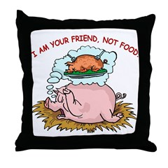Pigs Are Friends Throw Pillow